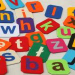 Alfabet magnetyczny z filcu