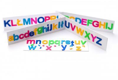 magnetyczne literki z filcu